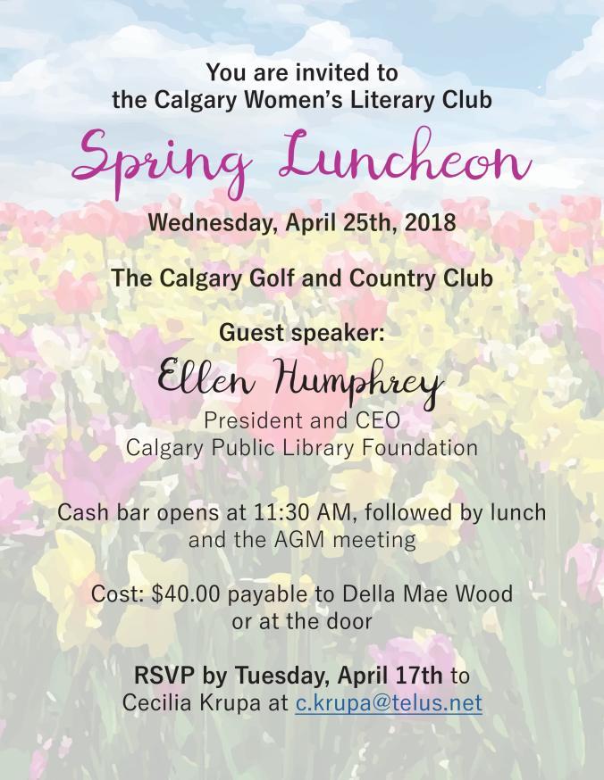 Luncheon Invitation April 25