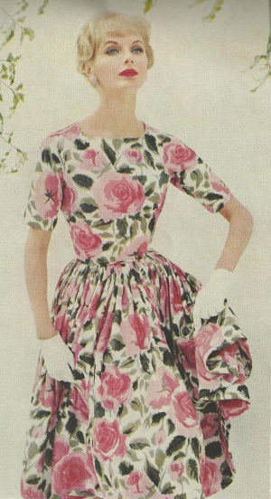 Fashion sketch of spring dress